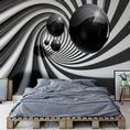 Black tunel paper wallpaper | Homewallmurals